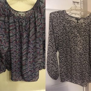 2 plus size peasant tops for $10